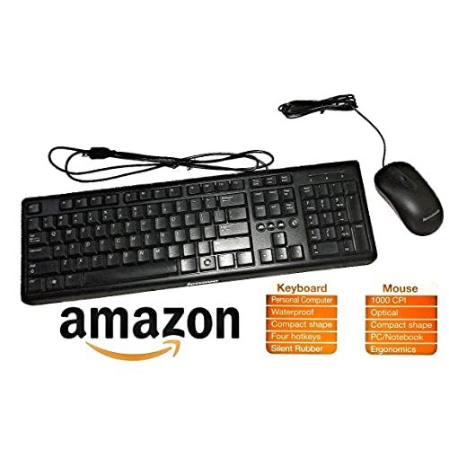 Lenovo Wired Keyboard and Mouse Combo KM4802, 888015670