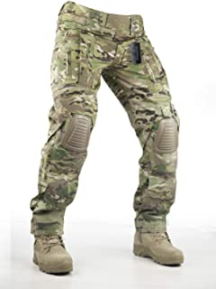 Pants with Knee Pads Hunting Paintball Airsoft BDU Military Camo Combat Trousers for Men