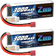 Zeee 11.1V 50C 3000mAh 3S RC Lipo Battery with Deans Connector for RC Airplane RC Helicopter RC Car RC Truck RC Boat UAV Drone FPV(2 Pack)