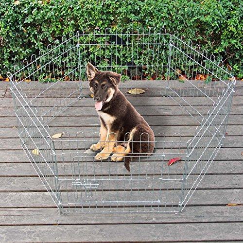WilTec Jaula Valla Parque para Mascotas Cachorros Juego 6 Piezas 60x60cm Corralito Variable