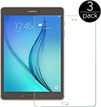 FanTEK Screen Protector Work for Samsung Galaxy Tab A 9.7 SM-T550 9.7-Inch Tablet - 3 Pack Ultra Thin Crystal Clear High Definition Anti-Bubble Cover Guard Screen Protector