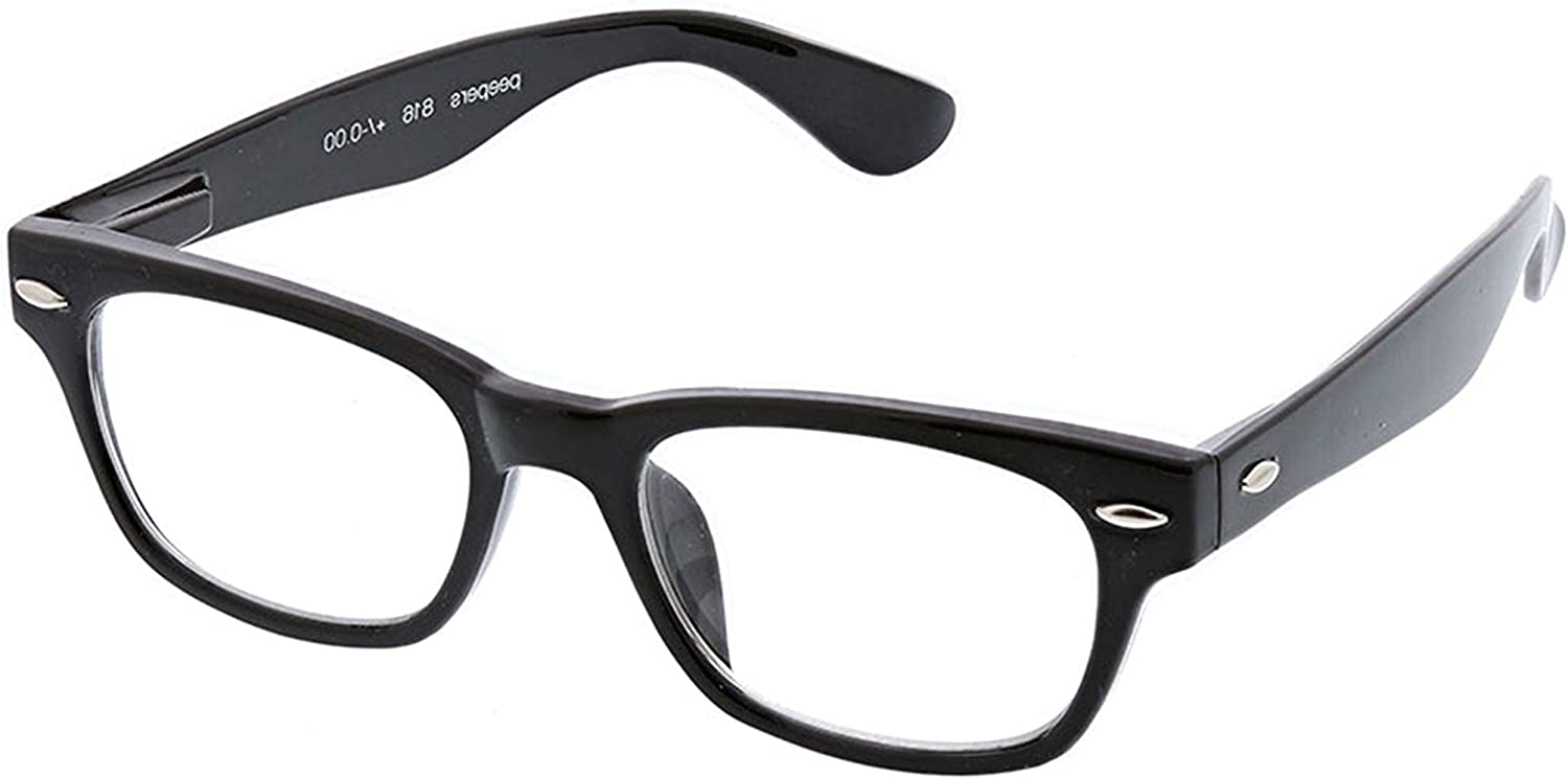 peepers by cheap peeperspecs Clark In stock Blue Square Glasses Reading Light