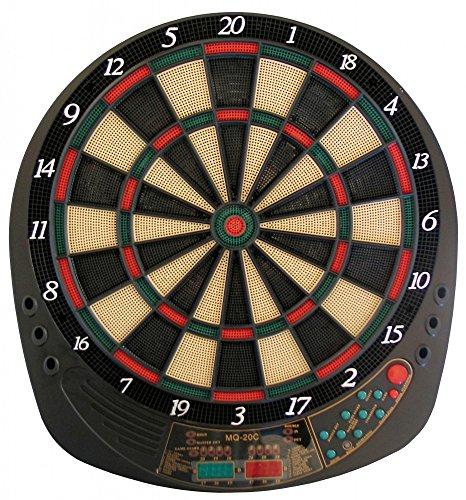 Best Sporting elektronische Dartscheibe Exeter Dartboard mit 12 Dartpfeilen und Ersatzspitzen Dartautomat mit Netzteil