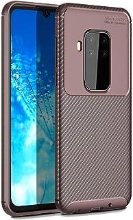 QFH Beetle Series Carbon Fiber Texture Shockproof TPU Case for Motorola MOTO P40 Note(Black) new style phone case (Color :...