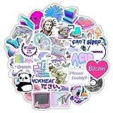 TTBH Vaporwave Art Style Sticker for Laptop Computer Skateboard Luggage Refrigerator Notebook Helmet Toy Cartoon Stickers 50Pcs