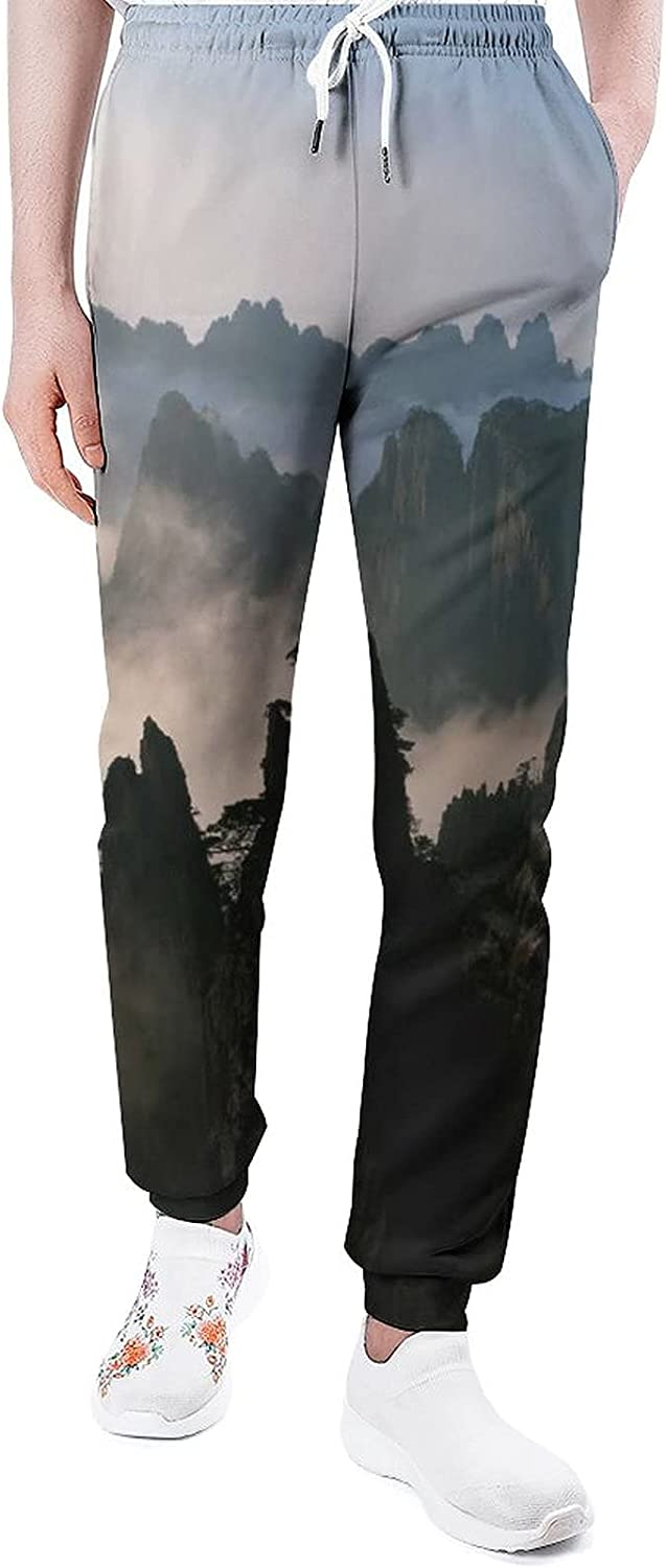 Mountains Surrounded by Sea Clouds 3 Some Max 56% OFF reservation Mans Pan Joggers Sweatpants
