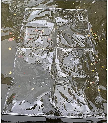ZHANGQINGXIU Lonas Impermeables Exterior,Lona Impermeable De Jardín Transparente, Cubierta De Lluvia Transparente Engrosada Con Ojales Lámina De Lona De Plástico Aislante Lona De Protección Contra El