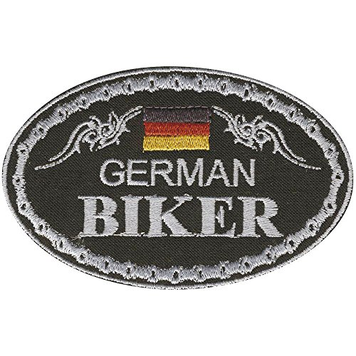 AUFNÄHER - German Biker - 04335 - Gr. ca. 9,5 x 6 cm - Patches Stick Applikation