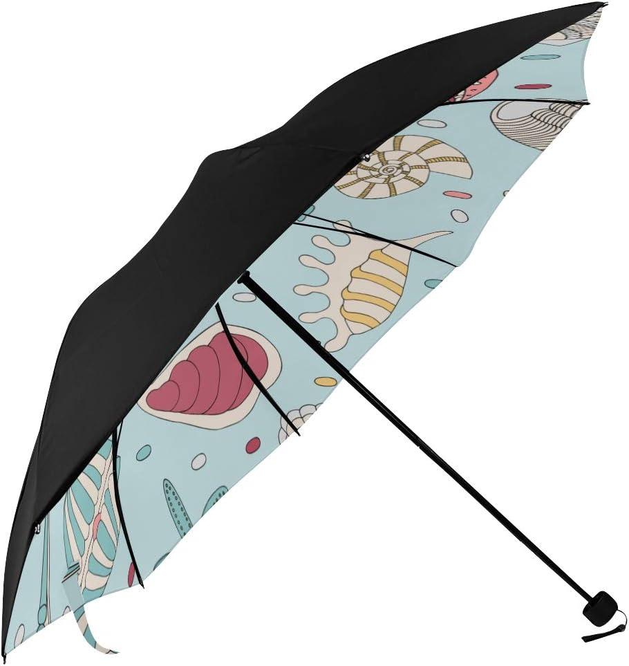 Kids Umbrellas Compact Ocean Starfish Marine Prin Mail order cheap Life Underside Mail order