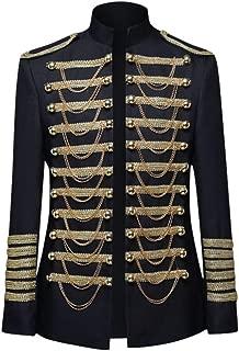 IZHH Mens Knight Suit Slim Fit Stylish Palace Blazer Casual Coats Gothic Jackets