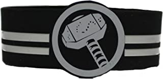 "Marvel Comics Retro Thor's Hammer Rubber Wristband, Officially Licensed Artwork, 1"" x 4"", Rubber WRISTBANDS"