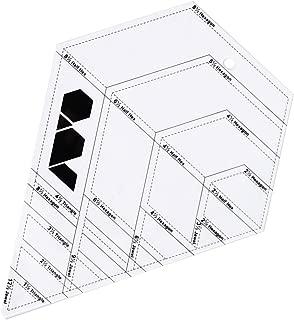 HAN SHENG 1 Pcs Transparent Hexagonal Diamond Shaped DIY Patchwork Ruled Template Stencils Tool