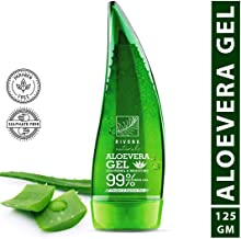 Rivona Naturals Organic & 99% Pure Soothing Aloe Vera Gel For Face, Skin and Hair - Best Multipurpose Beauty Gel – Paraben & Sulphate Free - 125 ml