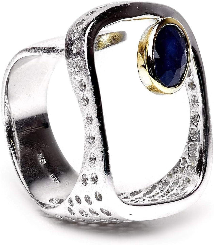 Portland Mall german kabirski 0.90 Carat Blue Sapphire St Handmade 925 Limited price in Ring