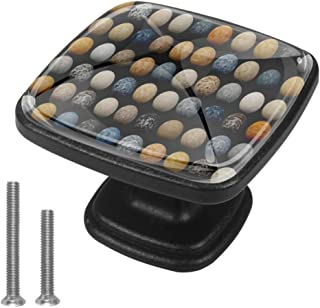 4 pomos de 30 mm con textura de mármol y granito de 30 mm asas redondas de cristal con tornillos para el hogar la ofici...