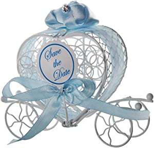 Ywoow Decoration, 1Pc New Candy Boxes Romantic Carriage Sweets Chocolate Box Wedding Party Favors, Iron Carriage Candy Box Small Object Storage Box Small Decoration