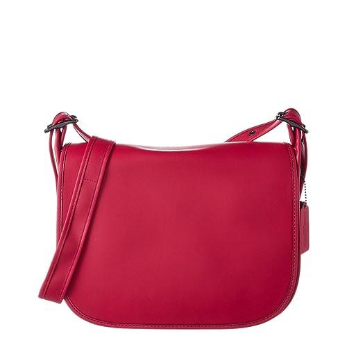 43bc3ad7bfb4 COACH Womens Glovetanned Leather Saddle Bag