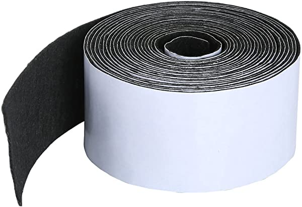 Pllieay 1 Pack Self Adhesive Felt Tape Polyester Felt Tape Furniture Felt Strips 1 96 Inch X 0 04 Inch X 14 7 Feet For Furniture And Hard Surfaces