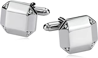 Aokarry Jewelry Stainless Steel Cufflinks for Men Polygon High Polish Men's Cuff Links