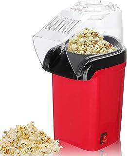 FOUVIN Machine à pop-corn à air chaud pour la maison, 1200 W, machine à pop-corn automatique sans graisse ni huile, sans B...