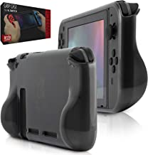 ORZLY® Protective Case for Nintendo Switch Console (2017 Model), Comfort Grip Carry Case with Shock Absorption - Smoke Slate