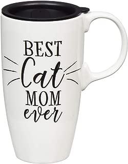 Best Cat Mom Ever 17 OZ Ceramic Latte Travel Cup - 3 x 5 x 6 Inches