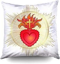 All Saints dise/ño de iglesia cat/ólica con coraz/ón sagrado de Jes/ús Pastillero de cristal