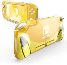 Mumba Case for Nintendo Switch Lite 2019, [Thunderbolt Series] Protective Clear Cover with TPU Grip (Yellow)