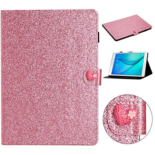 GLXC AYDD For Samsung Galaxy Tab A 8.0 T350 Love Buckle Glitter Horizontal Flip Leather Case with Holder & Card Slots (Color : Pink)