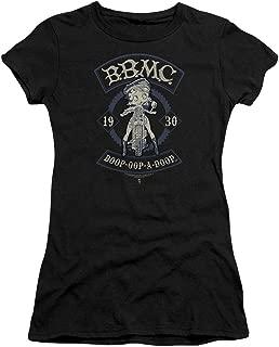 Trevco BB821-JS-3 Betty Boop B.B.M.C.-S by S Junior Sheer T-Shirt, Black - Large