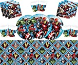 Marvel Avengers Assemble Party Vajilla Platos Tazas Servilletas Mantel Gratis Globos Marco de Fotos...