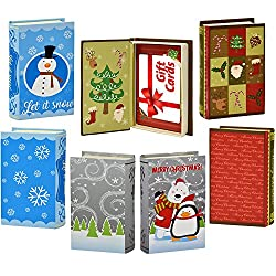 Christmas gift card holder magnetic closure book