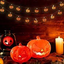 Uonlytech Pompoensnoer licht decoratief pompoennachtlampje pompoenfiguur licht pompoenfeest licht Halloween snoer licht vo...