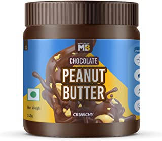 MuscleBlaze Chocolate Peanut Butter, Crunchy, 340g, No Oil Separation