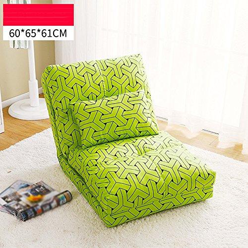 XING ZI LAZY SOFA L-R-S-F Canapé Paresseux, Chaise Simple Simple canapé, canapé-lit Double de Chambre, lit Pliant Pliable (Couleur : # 2, Taille : 60 * 65 * 61cm)