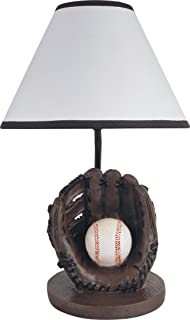 Milton Greens Stars Antique Resin Youth Baseball Table Lamp, 15.75-Inch