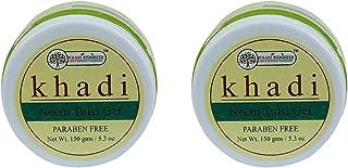 Khadi Rishikesh Herbal Neem Tulsi Gel Combo Set Pack Of 2 x 150 gm (300 gm)