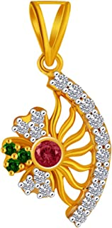 P.C. Chandra Jewellers 14KT Yellow Gold Pendant for Women