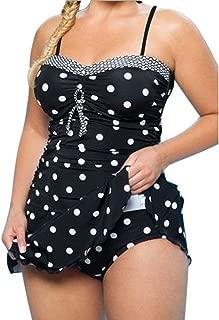 Ghazzi Women Swimsuits Plus Size Two Piece Tankini Bikini Set Dot Printed Bathing Suit Ladies Swim Dress Swimwear Beachwear