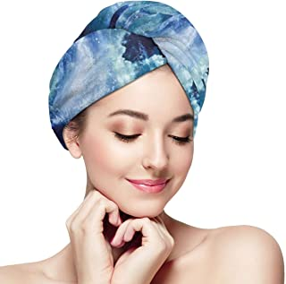 Quick Dry Hair Wrap Towels Turban,Nebula Gas Cloud On Celestial Sphere Universe Themed Infinity Design Galaxy Art Print,Absorbent Shower Cap