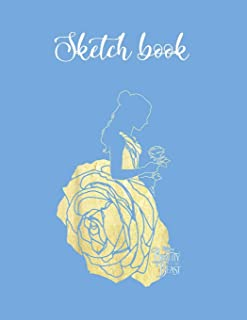 Composition Book: Disney Beauty The Beast Belle Golden Dress Graphic Lovely Composition Notes Notebook for Work Marble Siz...