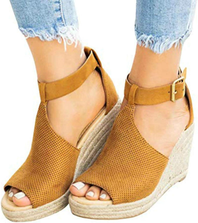 Seraih Womens T-Strap Wedge Sandal Adorable Comfort Platform
