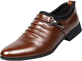 zpllstratos Mocassins Cuir Loafers Homme Bout Pointu Chaussure Confort Mariage Costume Business 38-48