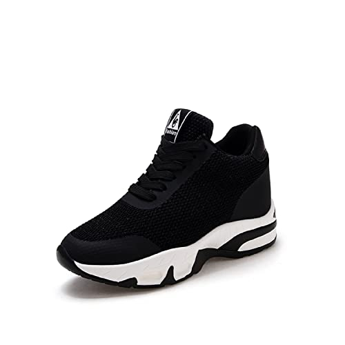d2e225f9a127 LILY999 Womens Wedges Shoes Trainers Breathable Gym Fitness Sports Hidden  Wedge Platform Sneakers