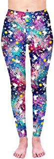Women's Digital Print High Waist Stretchy Ankle Sexy Leggings Tights
