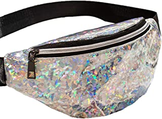 Awesome New Dazzling Diamonds Design Unisex Holographic Fanny Pack. (Crystal Diamonds)