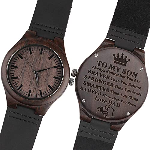 42e0f48c2762 Personalized Wooden Watch for Men Dad Husband Son Engraved Wooden Watch  Personalized Gifts for Men Dad