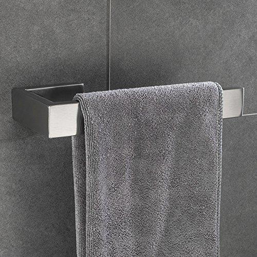 Lolypot Handtuchhalter Handtuchring Handtuchstange Wandhalter Gebürstetes Oberfläche 304 Edelstahl Bad Handtuchringe Badezimmerzubehör für Badezimmer