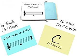 Treble Clef and Bass Clef Note Name Flashcards - Really fun