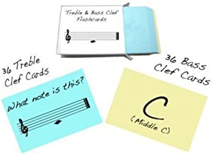 Treble Clef and Bass Clef Note Name Flashcards - Really fun design!